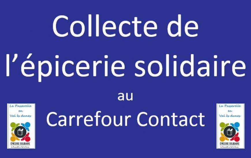 Collecte de l'épicerie solidaire