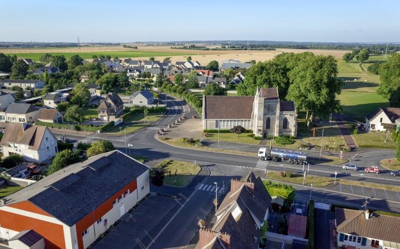Cagny photographie aérienne par cerf-volant / Fabien Potel www.airkapture.fr